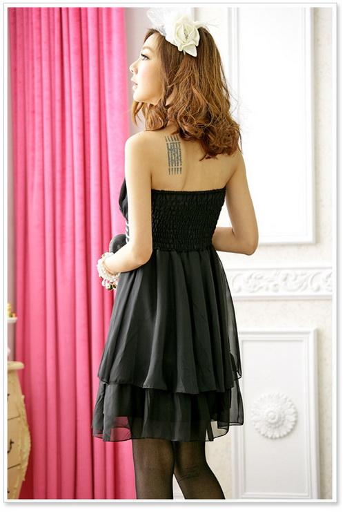画像2: 結婚式♪パーティーに♪シフォン★ウエストビーズ付き★ドレスワンピース♪カラー全3色/ピンク・レッド・ブラック