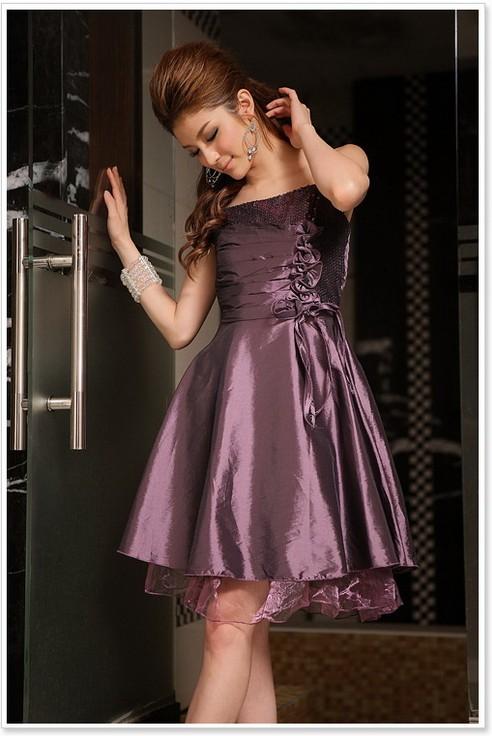 画像3: 大きいサイズあり!!結婚式♪パーティーに♪スパンコール☆ドレスワンピース☆カラー全3色/ブラック・ブルー・パープル