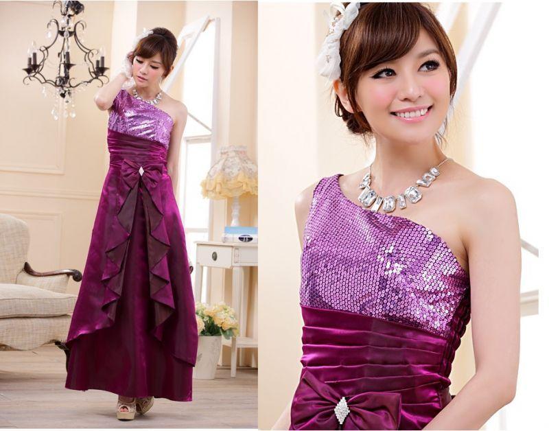 画像4: 大きい良サイズあり!!スパンコール☆ロングドレス♪カラー全3色/ブラック・パープル・レッド