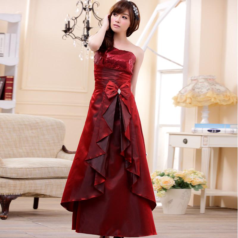画像3: 大きい良サイズあり!!スパンコール☆ロングドレス♪カラー全3色/ブラック・パープル・レッド