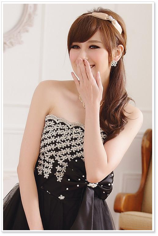画像4: 大きいサイズあり!!パーティー♪結婚式に♪上品刺繍☆ドレスワンピース♪カラー2色/ブラック・ホワイト