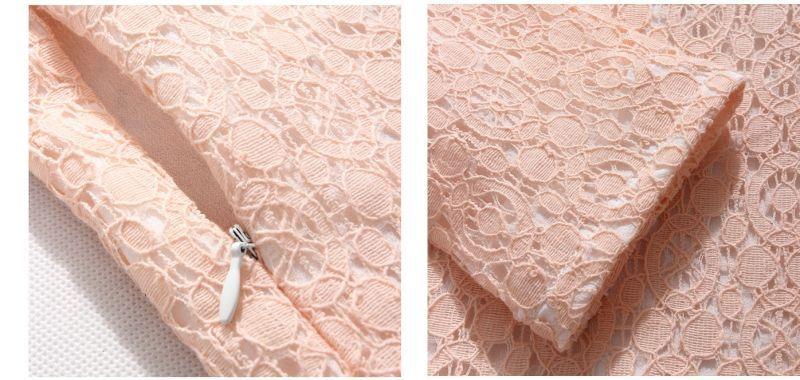 画像5: 上品&優雅♪長袖☆総レースワンピース☆カラー2色/ブラック・ピンク