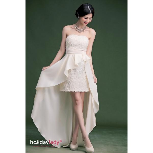 画像2: 大きいサイズあり!!結婚式♪パーティーに♪バラマーメードラインドレス☆カラー全3色/ライドベージュ・パープル・レッド