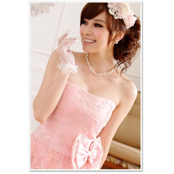 画像4: 大きいサイズあり!!パーティー♪結婚式に♪姫様☆上品花柄レース☆ドレスワンピース★カラー2色/ピンク・シャンパン