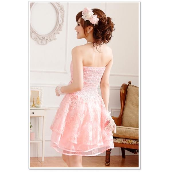 画像5: 大きいサイズあり!!パーティー♪結婚式に♪姫様☆上品花柄レース☆ドレスワンピース★カラー2色/ピンク・シャンパン