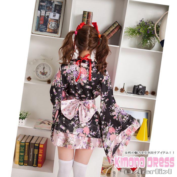 画像4: 紐取り外しOK!!2WAY♪フリルがキュート♪ミニ☆フレア☆着物ドレス♪6点セット☆