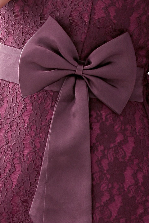 画像5: 大きいサイズあり!結婚式♪パーティーに♪総レース★ドレスワンピース☆カラー全3色/パープル・ブラック・ライトベージュ