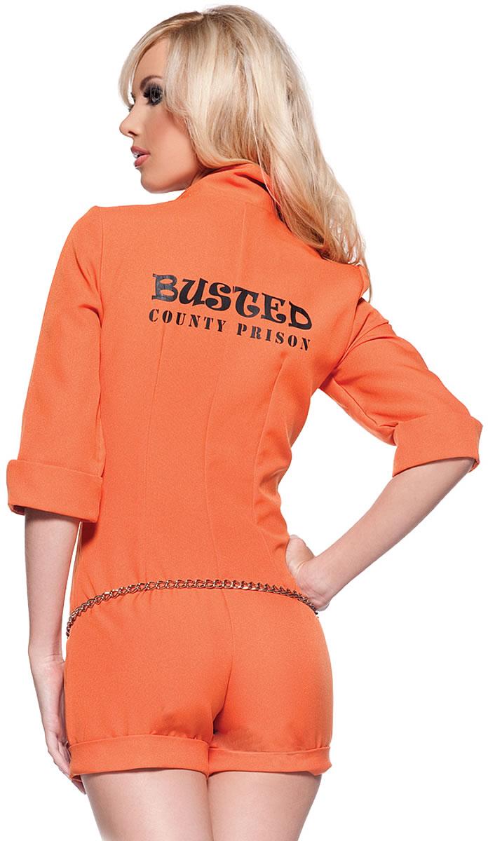 画像3: リアルなオレンジカラー☆手錠付!囚人風オールインワン♪