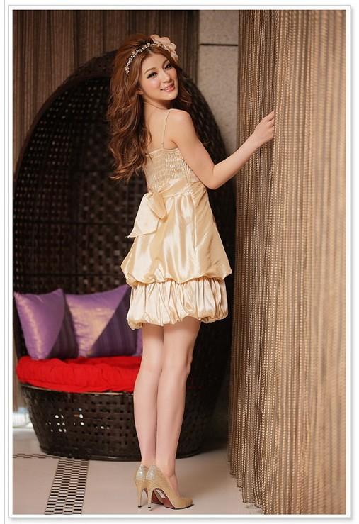 画像2: 大きいサイズあり!!結婚式♪パーティーに♪可愛い姫様バルーン☆ドレスワンピース☆カラー全3色/シャンパン・ピンク・レッド