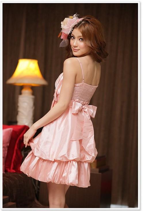 画像4: 大きいサイズあり!!結婚式♪パーティーに♪可愛い姫様バルーン☆ドレスワンピース☆カラー全3色/シャンパン・ピンク・レッド