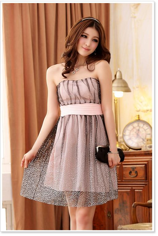 画像5: 大きいサイズあり!!結婚式♪パーティーに♪星柄ドレスワンピース♪カラー全3色/ブラック・シャンパン・ピンク