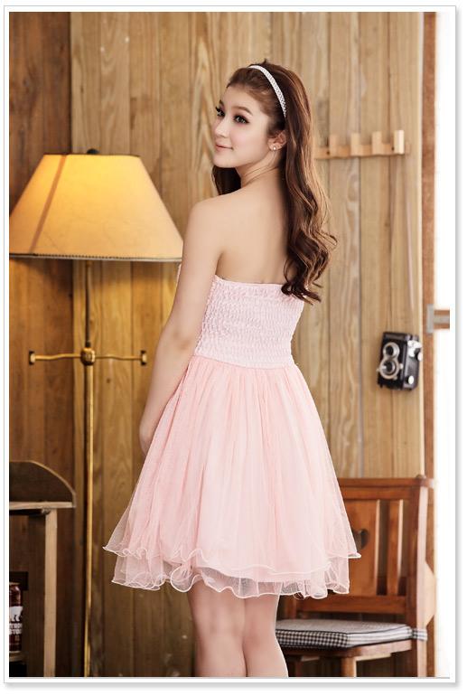 画像3: 大きいサイズあり!!結婚式♪パーティーに♪胸元バラ☆スパンコールドレスワンピース♪カラー全3色/ピンク・ホワイト・レッド