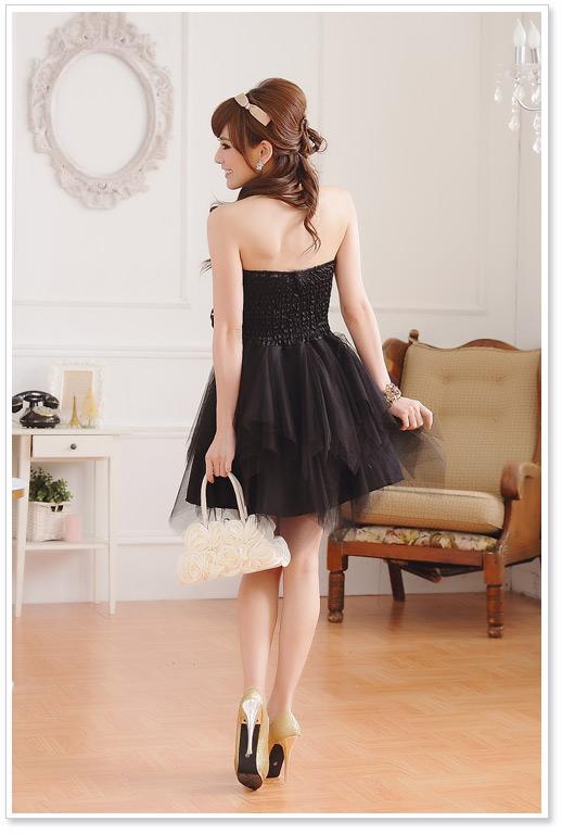 画像3: 大きいサイズあり!!パーティー♪結婚式に♪上品刺繍☆ドレスワンピース♪カラー2色/ブラック・ホワイト