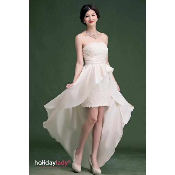 画像3: 大きいサイズあり!!結婚式♪パーティーに♪バラマーメードラインドレス☆カラー全3色/ライドベージュ・パープル・レッド