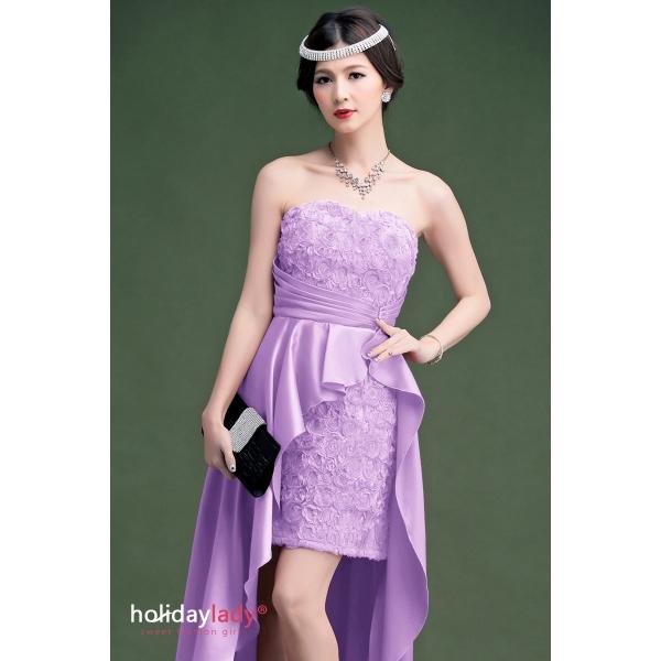 画像4: 大きいサイズあり!!結婚式♪パーティーに♪バラマーメードラインドレス☆カラー全3色/ライドベージュ・パープル・レッド