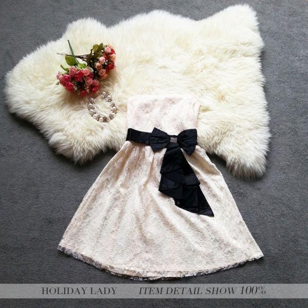 画像2: 大きいサイズあり★結婚式♪パーティーに♪花柄レース☆ドレスワンピース★カラー全3色/ピンク・パープル・ライトベージュ