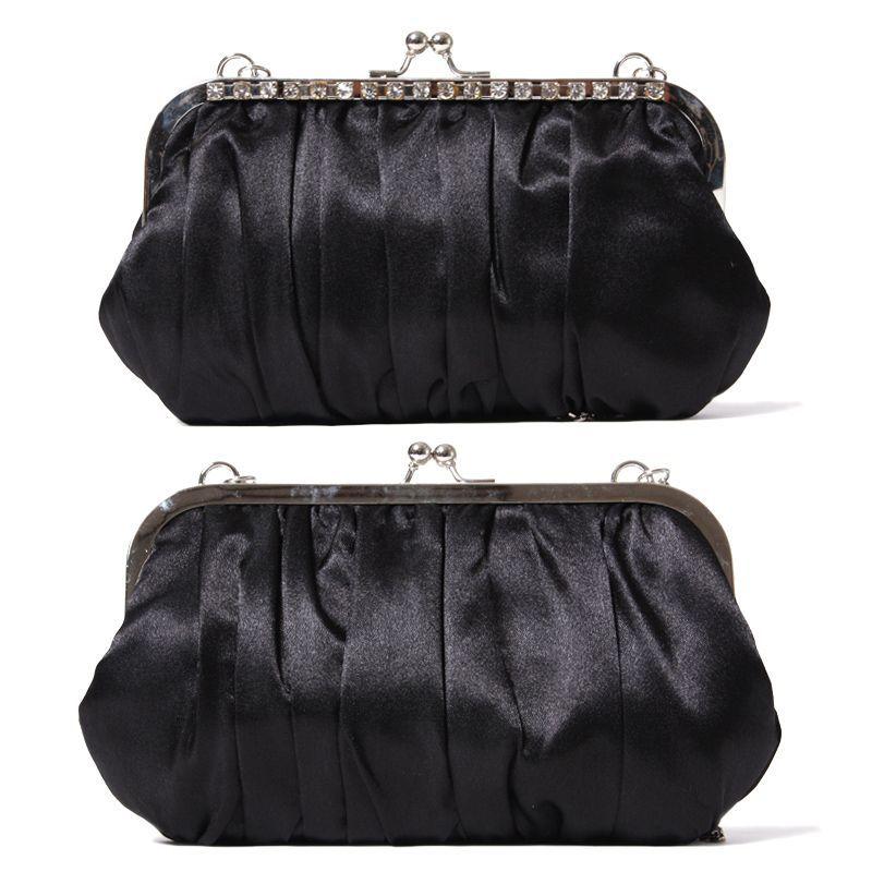 画像3: 【WEBEL】サブバッグ付サテンフォーマルバッグ★カラー全3色/ブラック・ホワイト・ピンク
