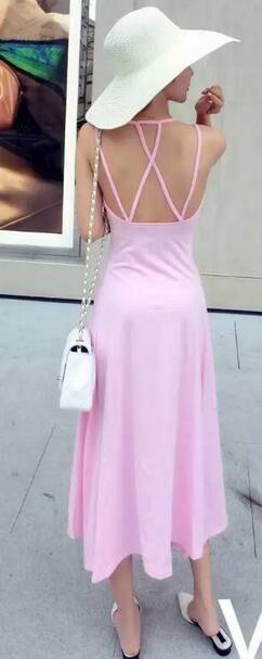 画像3: 背中開き★セクシー★ロングマキシワンピース★カラー2色/ブラック・ピンク