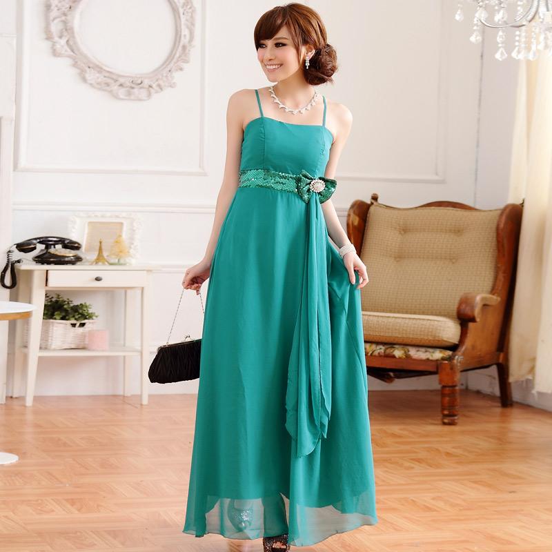 画像3: 大きいサイズあり!!欧米風☆スパンコール♪シフォンロングドレス☆カラー全3色/シャンパン・パープル・ブルー