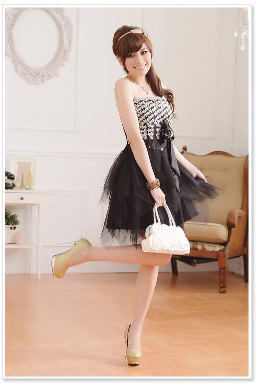 画像2: 大きいサイズあり!!パーティー♪結婚式に♪上品刺繍☆ドレスワンピース♪カラー2色/ブラック・ホワイト