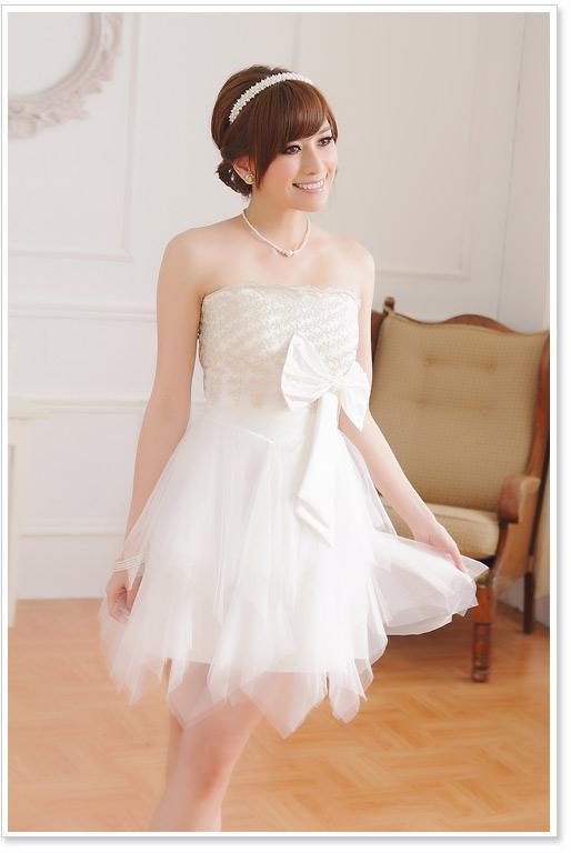 画像5: 大きいサイズあり!!パーティー♪結婚式に♪上品刺繍☆ドレスワンピース♪カラー2色/ブラック・ホワイト