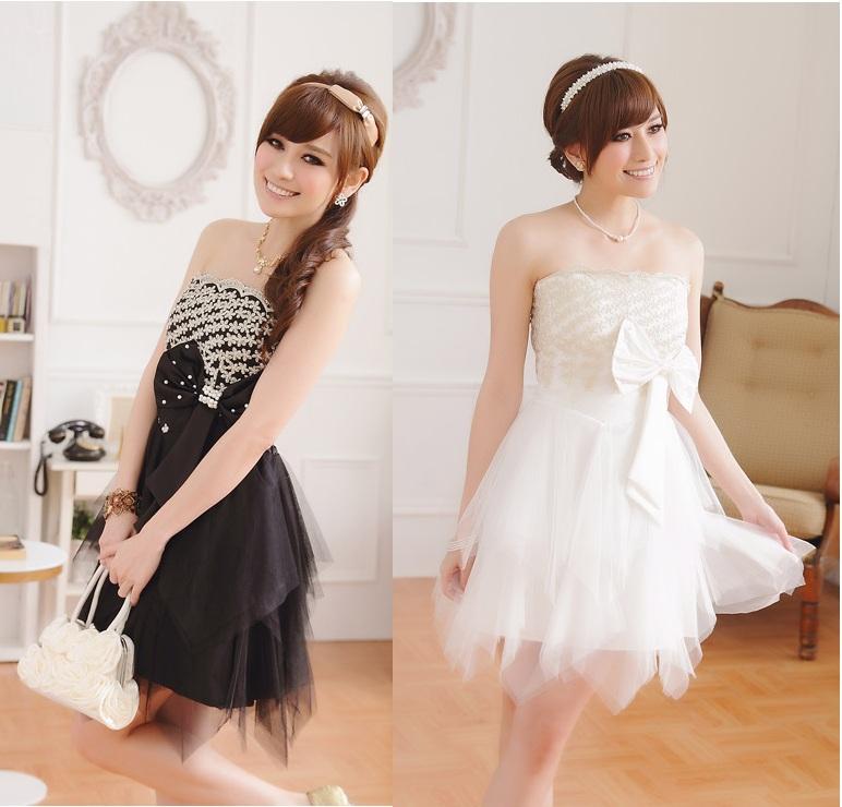 画像: 大きいサイズあり!!パーティー♪結婚式に♪上品刺繍☆ドレスワンピース♪カラー2色/ブラック・ホワイト